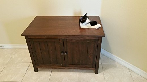 ... Top Entry Litter Box Cabinet By Furever Pet Furniture   Espresso Wood  ...