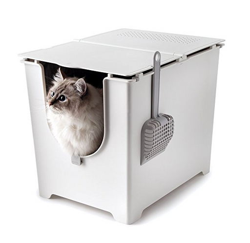 Modern Side Entry Litter Box by Modkat - Scoop + Reusable Tarp Liner