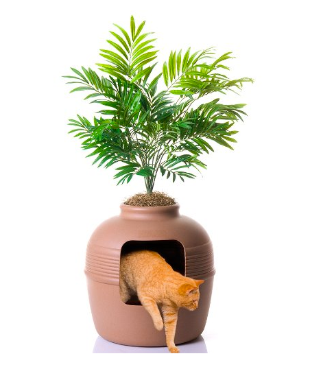 Hidden Side Entry Litter Box by Good Pet Stuff - Discrete Plant