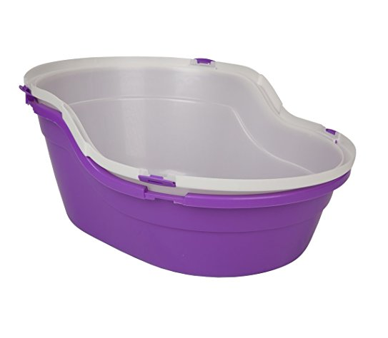 Top Entry Litter Box by Sroute - Purple, Aqua Marine, Lime Green