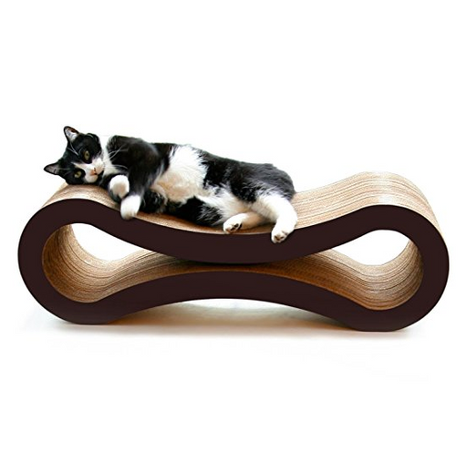Cat Scratcher Lounge Furniture by PetFusion - Walnut, Gray, White