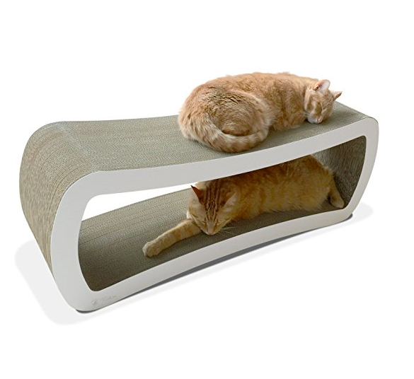 Luxury Cat Scratcher Lounge for Multiple Cats by PetFusion - Jumbo Sized