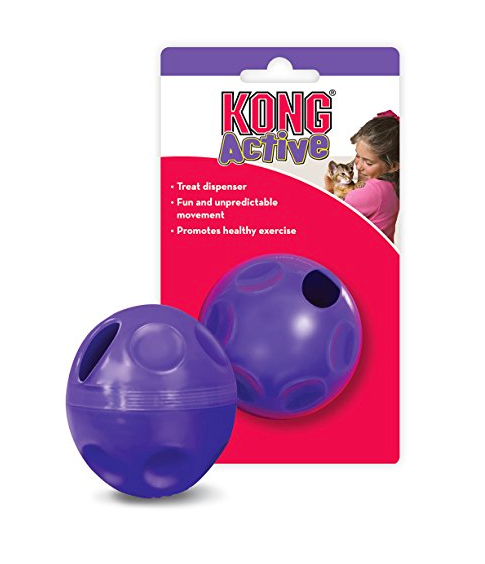 Purple Cat Treat Dispensing Ball by Kong