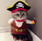 Funny Pirate Cat Costume for Halloween