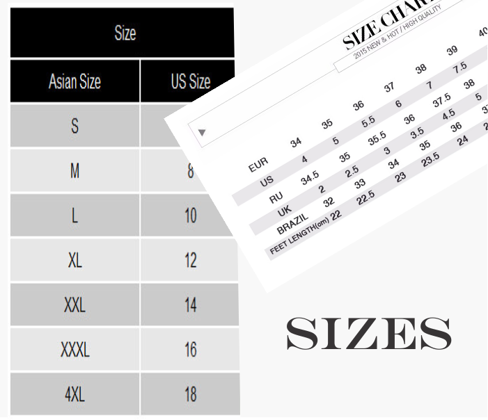 How to choose the right size while shopping online.