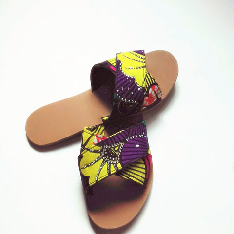 Ankara slippers - Nozish Fashion