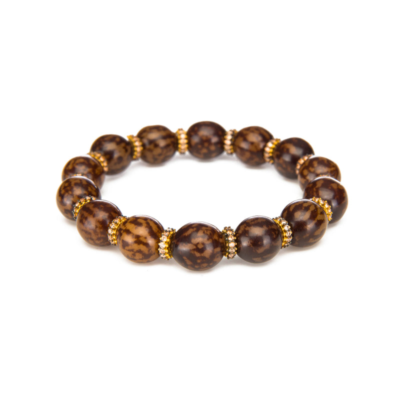 Cocoa Bean Stretch Bracelet