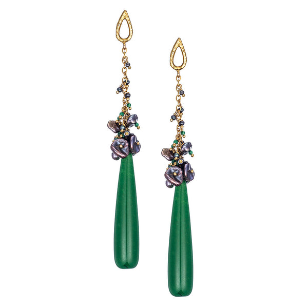 Emerald Jade Drop Earrings