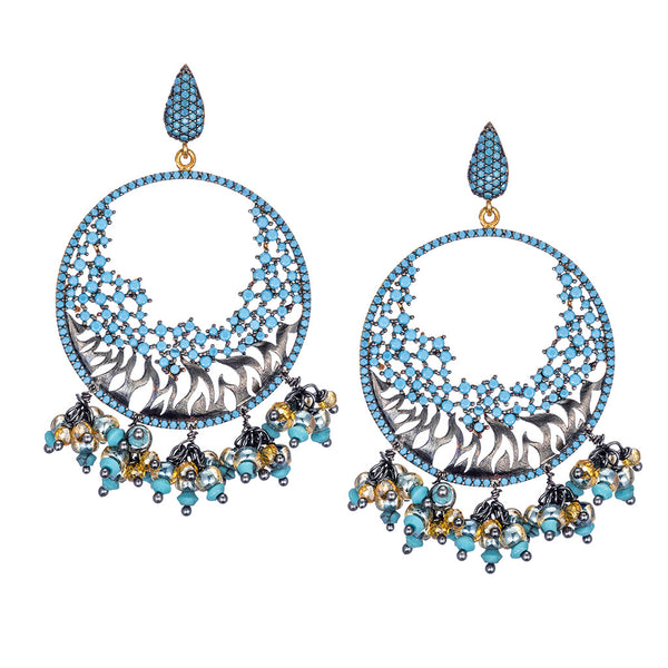Celestine Turquoise Chandelier Earrings