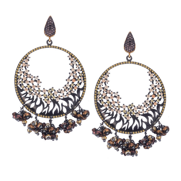 Celestine Champagne Chandelier Earrings