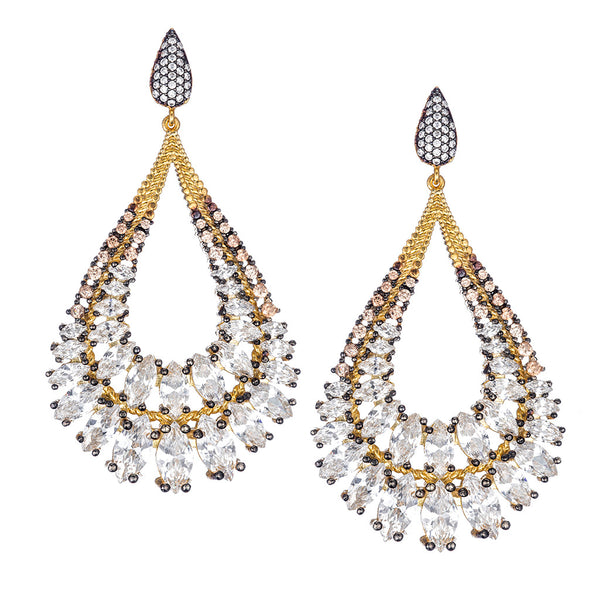 Fabulous Teardrop Chandelier Earrings