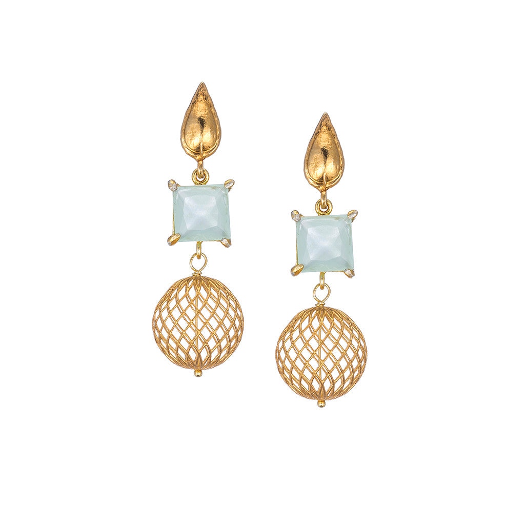 Delicate Satin Drop Earrings
