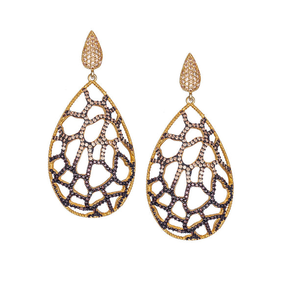 Honeycomb Teardrop Earrings