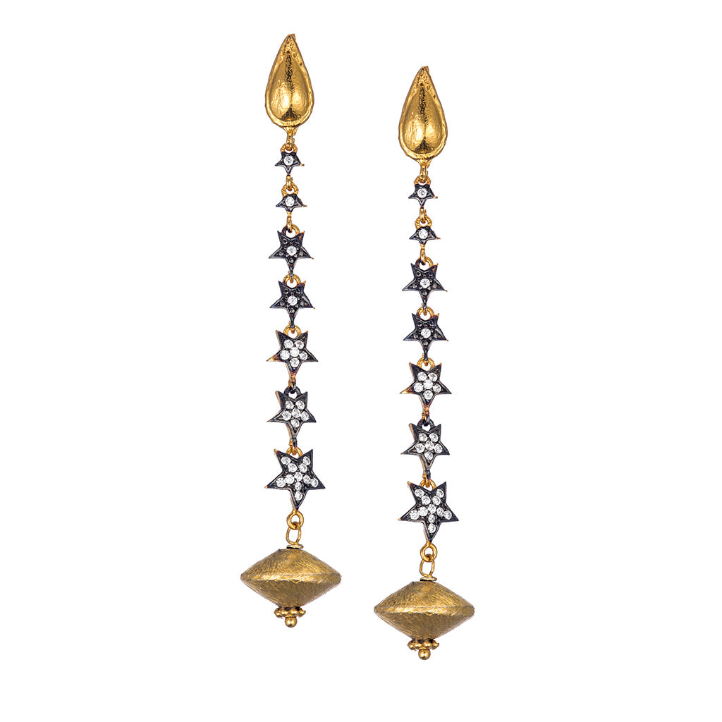 Celestial Star Drop Earrings