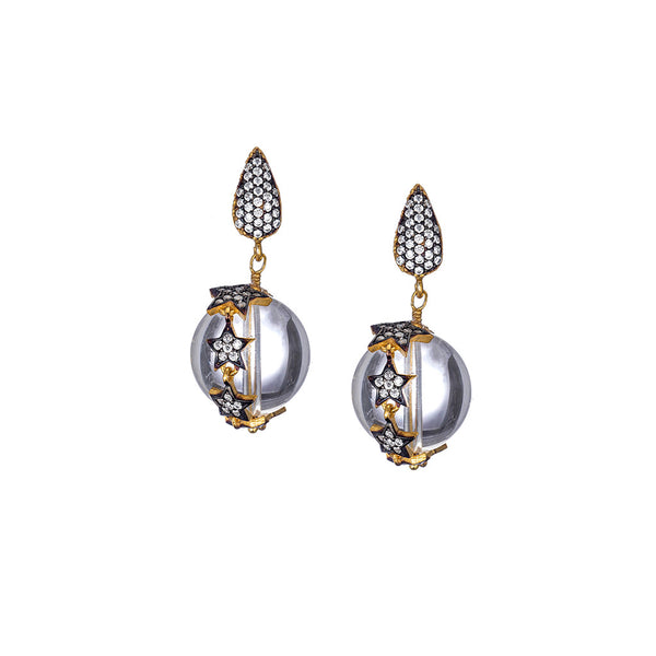 Celestial Rock Crystal Earrings