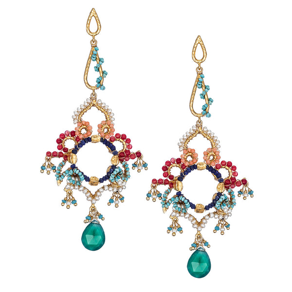Florentine Multi Color Chandelier Earrings