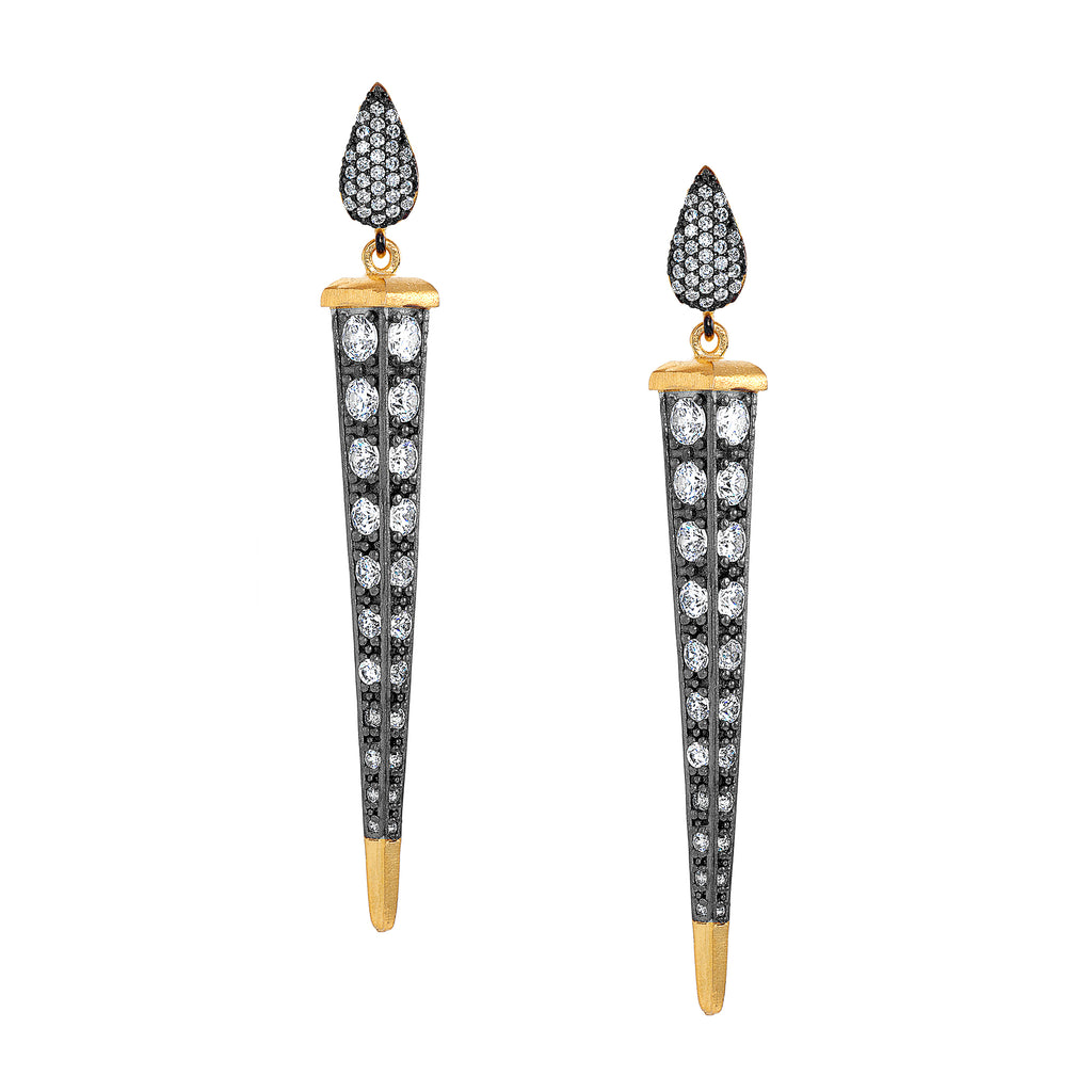 Florentine CZ Dagger Earrings as featured in InStyle Magazine
