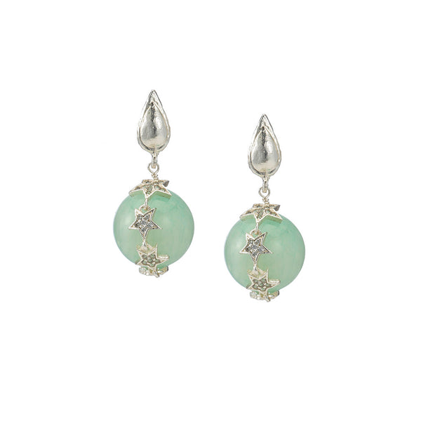 Celestial Blue Opal Earrings