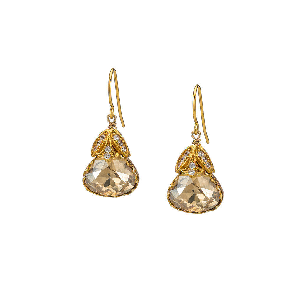 Delicate Champagne Earrings