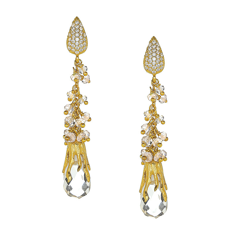 Rock Crystal Waterfall Earrings