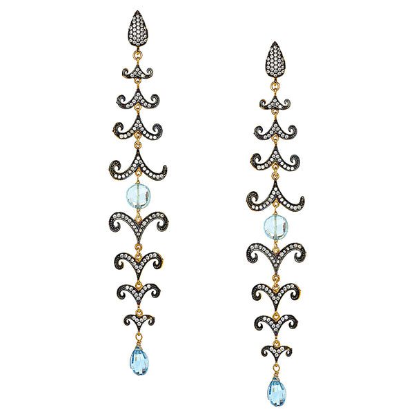 Blue Topaz Florentine Dusters