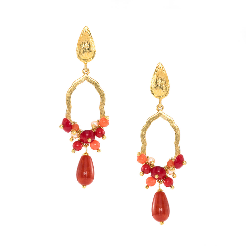 St. Tropez Rouge Drop Earrings