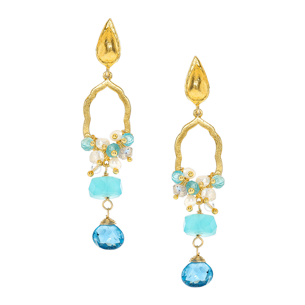 St. Tropez Blue Topaz Drop Earrings