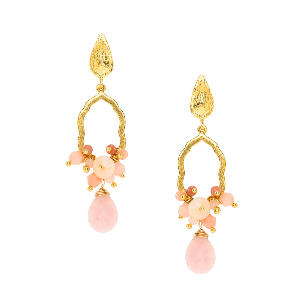 St. Tropez Pink Coral Drop Earrings