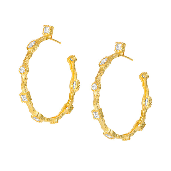 Paris Yellow Gold Hoops