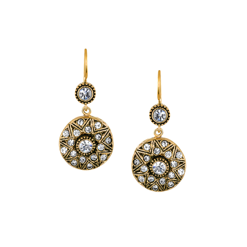 Azaara Vintage Classic Starburst Swarovski Crystal Earrings