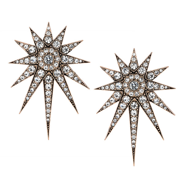 Vintage Celestial Falling Star Earrings