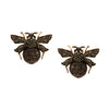 Vintage Black Diamond Bumble Bee Stud Earrings (Clip on option)