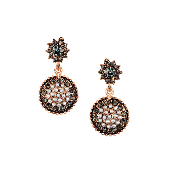 Azaara Vintage Pearl Bud Earrings