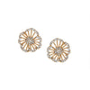 Azaara Vintage Yellow Gold Floret Stud Earrings