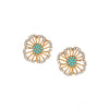 Azaara Vintage Turquoise Floret Stud Earrings