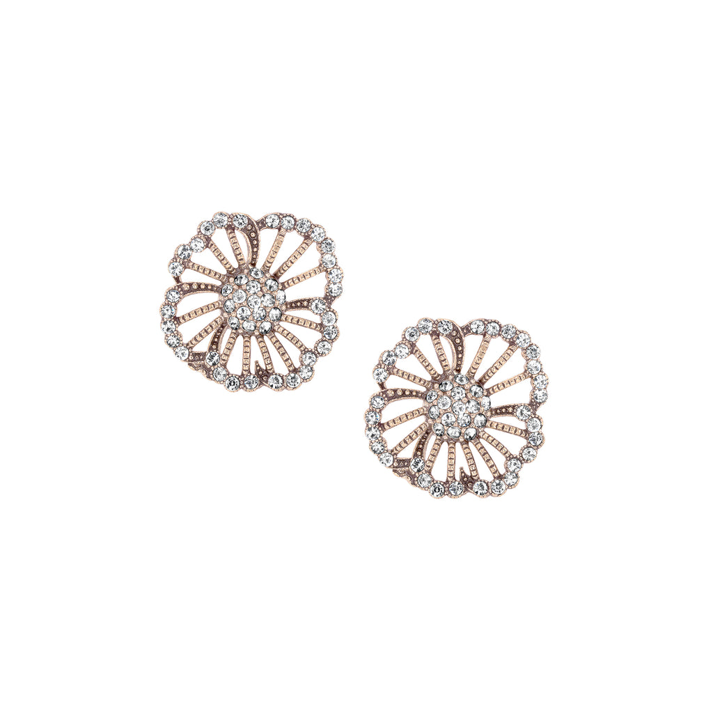 Azaara Vintage Heirloom Floret Stud Earrings