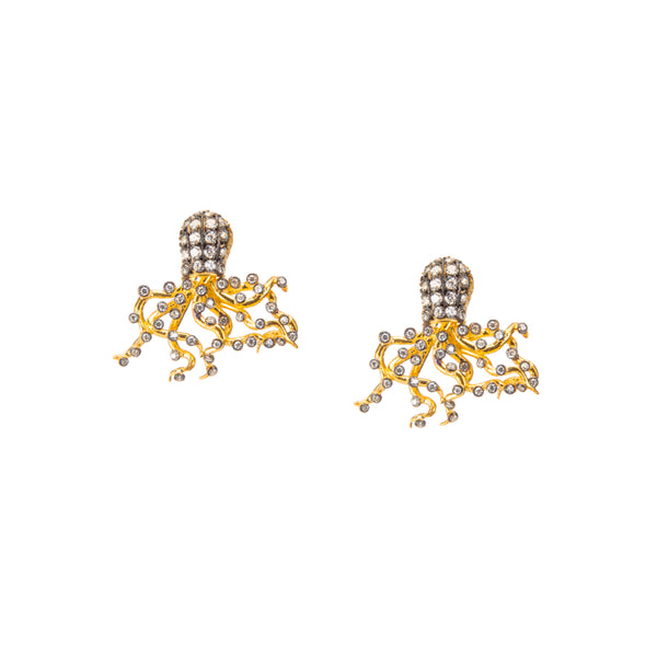 Under the Sea Octopus Stud Earrings