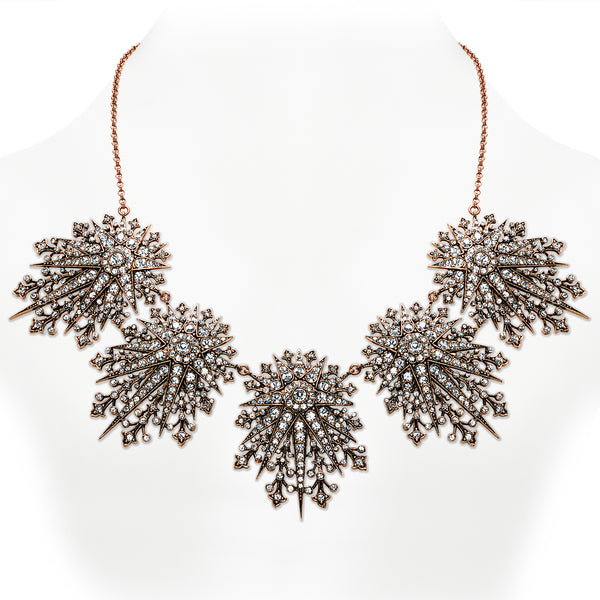 Vintage Celestial Starburst Statement Necklace