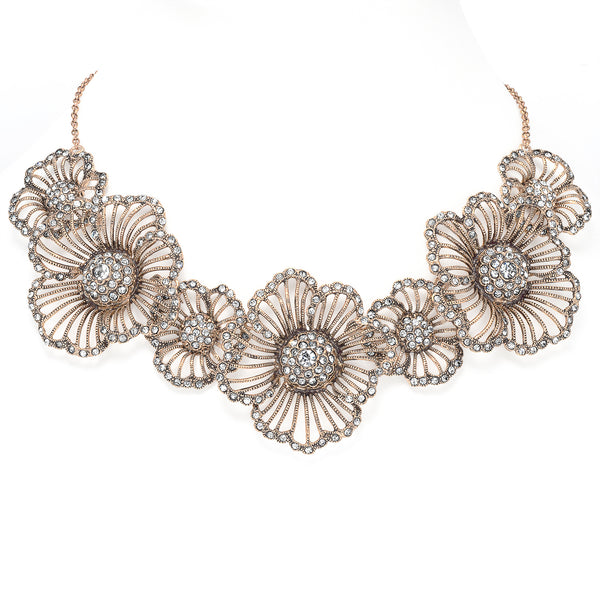 Azaara Vintage Floral Necklace
