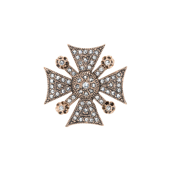 Vintage Maltese Cross Brooch