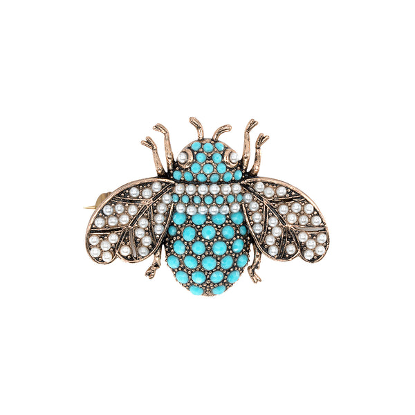 Vintage Turquoise Critter Brooch