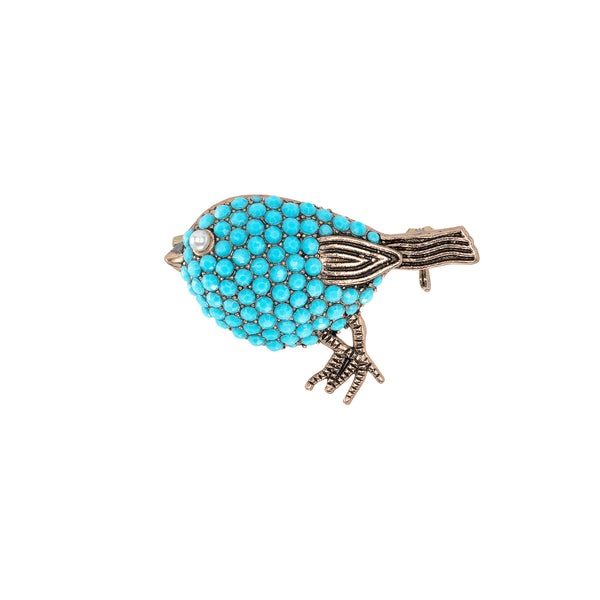 Vintage Turquoise Uccello Brooch