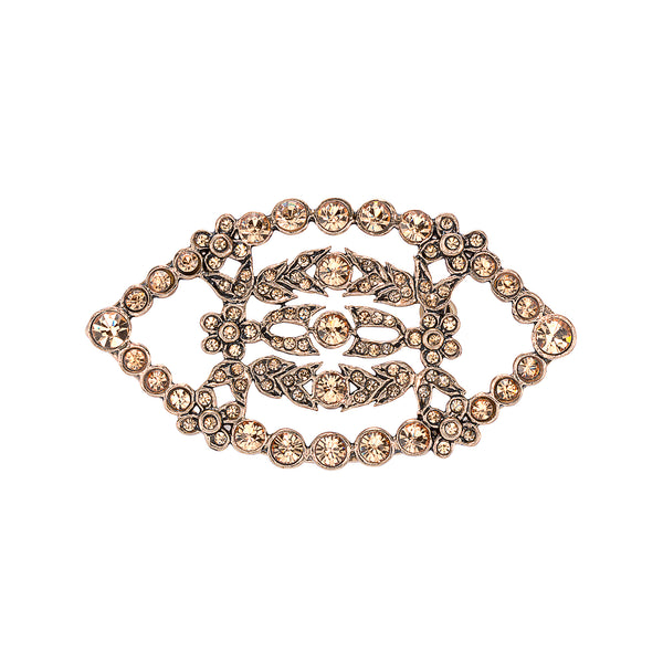 Vintage Champagne Protective Eye Brooch