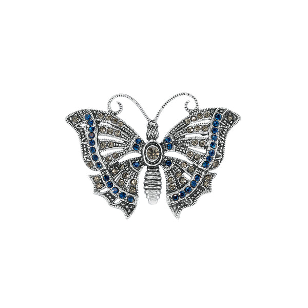 Vintage Silver Plate Butterfly Brooch