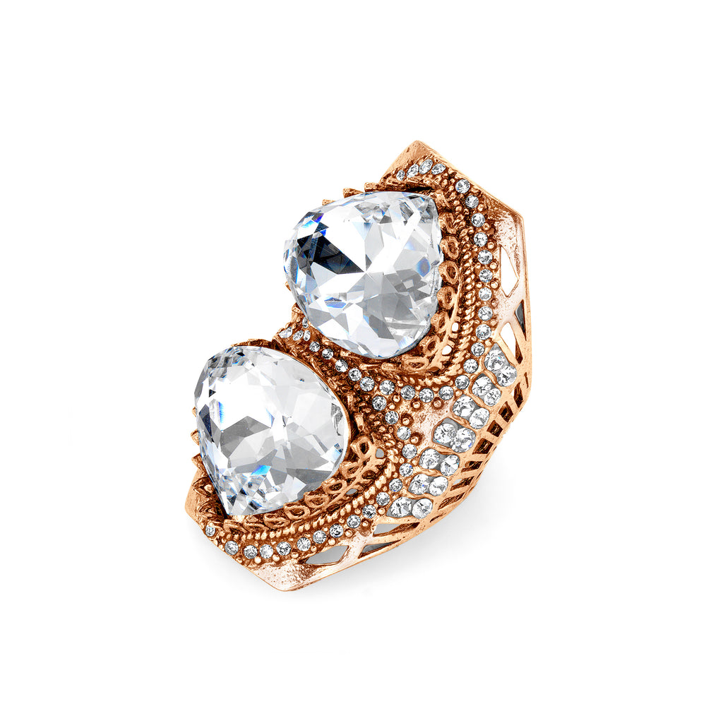 Vintage Crystal Statement Ring