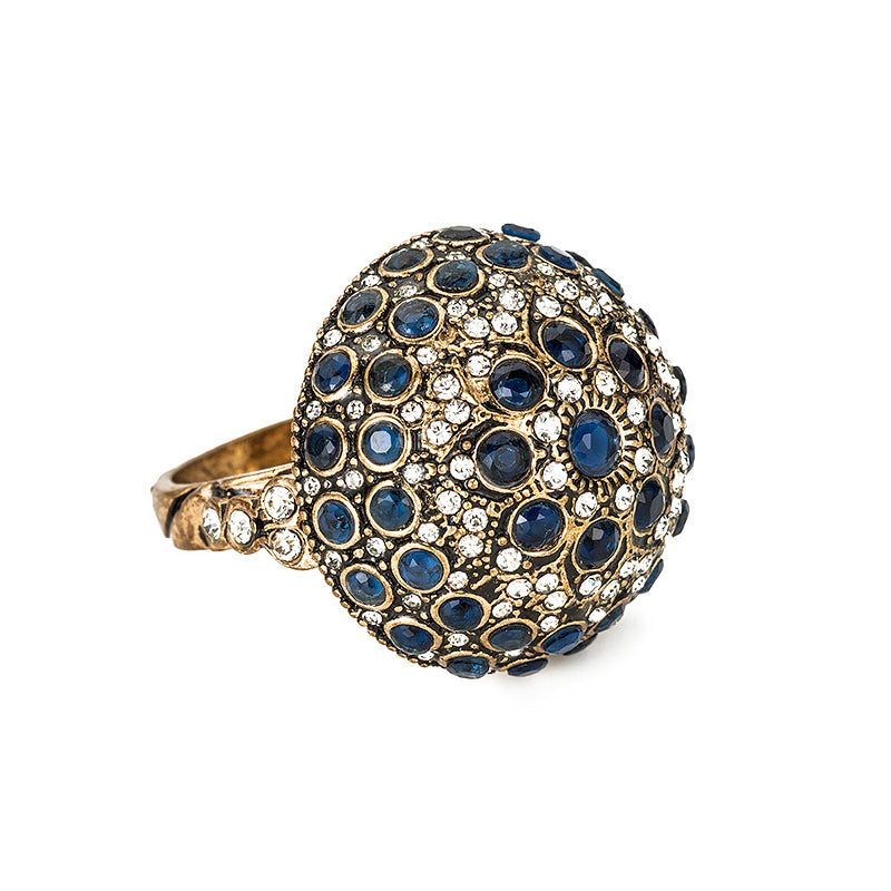 Sapphire Crystal Dome Ring