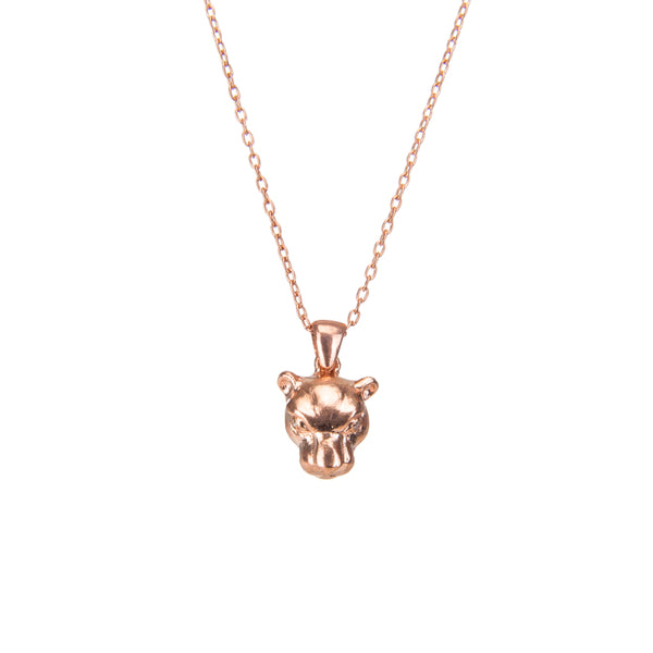 Panther Rose Gold Pendant Necklace