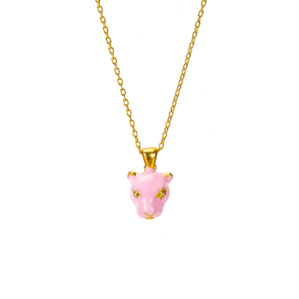 Pink Panther Pendant Necklace