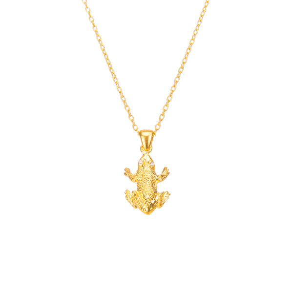 Delicate Frog Pendant Necklace