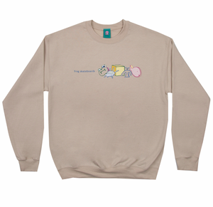 Peaceful Block Logo Crewneck Oatmeal